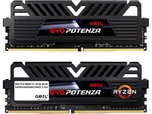 GeIL 16GB (2 x 8GB) 288-Pin DDR4 SDRAM DDR4 3600 (PC4 28800) Desktop Memory Model GAPB416GB3600C18ADC