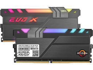 GeIL EVO X II AMD Edition 32GB (2 x 16GB) 288-Pin DDR4 SDRAM DDR4 3000 (PC4 24000) Desktop Memory Model GAEXSY432GB3000C16ADC