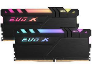GeIL EVO X II 16GB (2 x 8GB) 288-Pin DDR4 SDRAM DDR4 3200 (PC4 25600) Intel XMP 2.0 Desktop Memory Model GEXSB416GB3200C16BDC