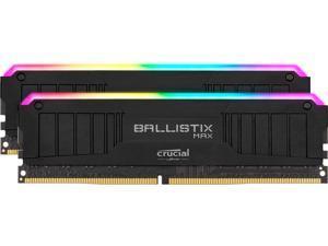 Crucial Ballistix MAX RGB 4000 MHz DDR4 DRAM Desktop Gaming Memory Kit 32GB (16GBx2) CL18 BLM2K16G40C18U4BL (BLACK)
