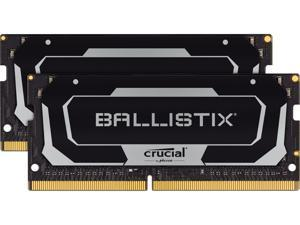 Crucial Ballistix 32GB (2 x 16GB) 260-Pin DDR4 SO-DIMM DDR4 2666 (PC4 21300) Laptop Memory Model BL2K16G26C16S4B