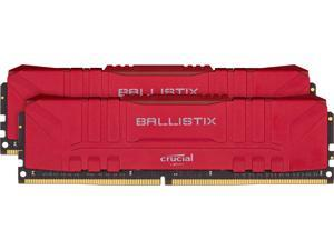 Crucial Ballistix 3000 MHz DDR4 DRAM Desktop Gaming Memory Kit 16GB (8GBx2) CL15 BL2K8G30C15U4R (RED)