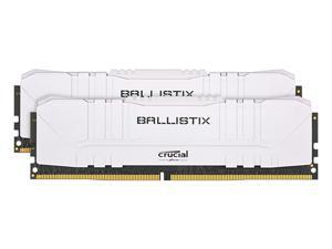 Crucial Ballistix 3000 MHz DDR4 DRAM Desktop Gaming Memory Kit 16GB (8GBx2) CL15 BL2K8G30C15U4W (WHITE)