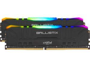Crucial Ballistix RGB 3200 MHz DDR4 DRAM Desktop Gaming Memory Kit 64GB (32GBx2) CL16 BL2K32G32C16U4BL (BLACK)