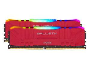 Crucial Ballistix RGB 3200 MHz DDR4 DRAM Desktop Gaming Memory Kit 64GB (32GBx2) CL16 BL2K32G32C16U4RL (RED)