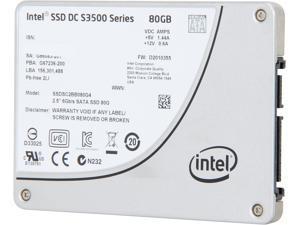 """Intel DC S3500 SSDSC2BB080G401 2.5"""" 80GB SATA III MLC Business Solid State Drive"""