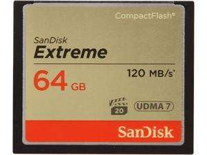 SanDisk 64GB Compact Flash (CF) Memory Card Extreme 400x UDMA Model SDCFXS-064G-A46