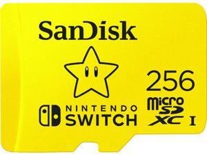 SanDisk 256GB microSDXC Flash Card for Nintendo Switch Model SDSQXAO-256G-GNCZN