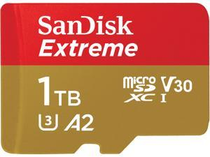 SanDisk 1TB Extreme microSDXC UHS-I/U3 A2 Memory Card with Adapter, Speed Up to 160MB/s (SDSQXA1-1T00-GN6MA)