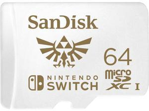 SanDisk 64GB microSDXC UHS-I for Nintendo Switch, Speed Up to 100MB/s (SDSQXAT-064G-GNCZN)