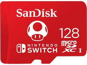 SanDisk 128GB microSDXC UHS-I for Nintendo Switch, Speed Up to 100MB/s (SDSQXAO-128G-GNCZN)