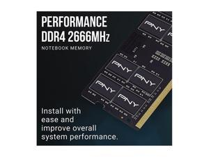 PNY 16GB (2 x 8GB) 260-Pin DDR4 SO-DIMM DDR4 2666 (PC4 21300) Laptop Memory Model MN16GK2D42666