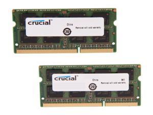 Crucial 8GB Kit (2 x 4GB) DDR3L 1600 MT/s (PC3L-12800) SODIMM 204-Pin 1.35V Laptop Memory - CT2KIT51264BF160B