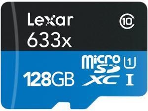 Lexar 128GB High-Performance 633x microSDXC UHS-I/U1 Class 10 Memory Card w/ SD Adapter (LSDMI128BBNL633A)