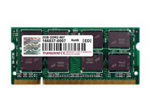 Transcend 2GB 200-Pin DDR2 SO-DIMM DDR2 667 (PC2 5300) Laptop Memory Model TS256MSQ64V6U