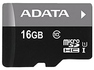 ADATA 16GB Premier microSDHC UHS-I / Class 10 Memory Card with SD Adapter, Speed Up to 50MB/s (AUSDH16GUICL10-RA1)