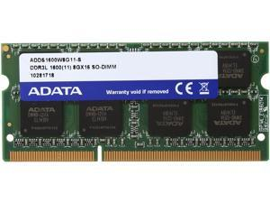 ADATA 8GB 204-Pin DDR3 SO-DIMM DDR3L 1600 (PC3L 12800) Laptop Memory Model ADDS1600W8G11-S