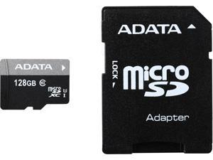 ADATA 128GB Premier microSDXC UHS-I / Class 10 Memory Card with SD Adapter, Speed Up to 50MB/s (AUSDX128GUICL10-RA1)
