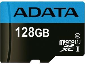 ADATA 128GB Premier microSDXC UHS-I / Class 10 Memory Card with SD Adapter, Speed Up to 85MB/s (AUSDX128GUICL10 85-RA1)