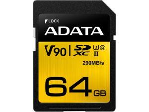 ADATA Premier ONE 64GB Secure Digital Extended Capacity (SDXC) Flash Card Model ASDX64GUII3CL10-C