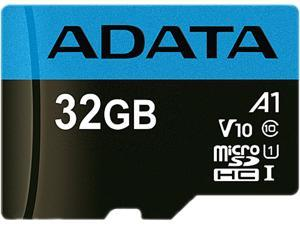 ADATA 32GB Premier microSDHC UHS-I / Class 10 V10 A1 Memory Card with SD Adapter, Speed Up to 100MB/s (AUSDH32GUICL10A1-RA1)