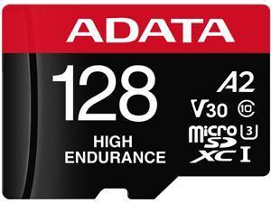 ADATA 128GB High Endurance microSDXC UHS-I U3 / Class 10 V30 A2 Memory Card with SD Adapter, Speed Up to 100MB/s (AUSDX128GUI3V30SHA2-RA1)