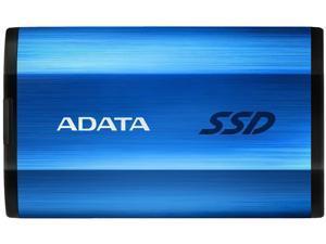 ADATA SE800 512GB IP68 Rugged - Up to 1000 MB/s - SuperSpeed USB 3.2 Gen 2 USB-C External Portable SSD Blue (ASE800-512GU32G2-CBL)