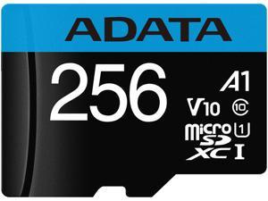 ADATA 256GB Premier microSDXC UHS-I / Class 10 V10 A1 Memory Card with SD Adapter, Speed Up to 100MB/s (AUSDX256GUICL10A1-RA1)