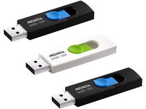 ADATA UV320 96GB (32GB x 3) USB Flash Drive, 3-pack Model AUV320-32G-3BWB