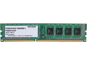 Patriot Signature Line 4GB 240-Pin DDR3 SDRAM DDR3 1600 (PC3 12800) Desktop Memory Model PSD34G160081