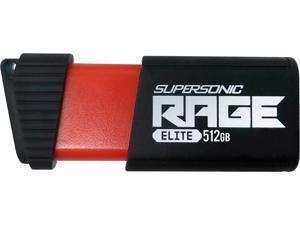 Patriot Supersonic Rage Elite 512GB USB 3.1, Gen. 1 (USB 3.0) Flash Drive Model PEF512GSRE3USB