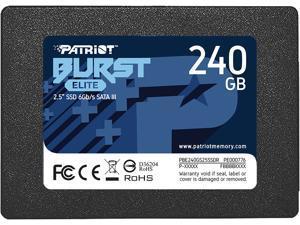 "Patriot Burst Elite 2.5"" 240GB SATA III Internal Solid State Drive (SSD) PBE240GS25SSDR"