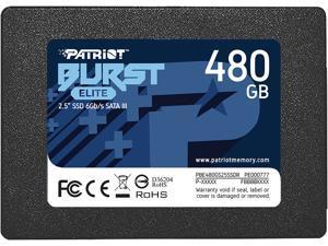 "Patriot Burst Elite 2.5"" 480GB SATA III Internal Solid State Drive (SSD) PBE480GS25SSDR"