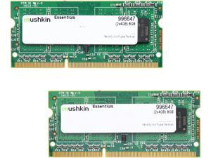 Mushkin Enhanced 128MB 204-Pin DDR3 SO-DIMM DDR3 1333 (PC3 10666) Dual Channel Kit Laptop Memory Model 996647
