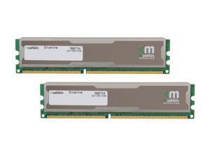Mushkin Enhanced Silverline 2GB (2 x 1GB) 184-Pin DDR SDRAM DDR 400 (PC 3200) Desktop Memory Model 996754