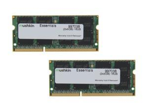 Mushkin Enhanced Essentials 16GB (2 x 8GB) 204-Pin DDR3 SO-DIMM DDR3L 1600 (PC3L 12800) Laptop Memory Model 997038