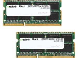 Mushkin Enhanced iRam 32GB (2 x 16GB) DDR3L 1866 (PC3L 14900) Memory for Late-2015 iMac (Core i5/i7) Model MAR3S186DM16G28X2