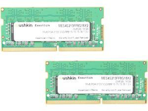 Mushkin Enhanced Essentials 16GB (2 x 8GB) 260-Pin DDR4 SO-DIMM DDR4 2133 (PC4 17000) Notebook Memory Model MES4S213FF8G18X2