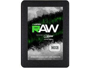 """Mushkin Enhanced RAW Series 2.5"""" 960GB SATA III 3D TLC Internal Solid State Drive (SSD) MKNSSDRW960GB"""