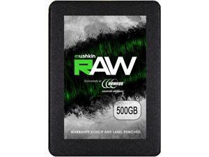 """Mushkin Enhanced RAW Series 2.5"""" 500GB SATA III 3D TLC Internal Solid State Drive (SSD) MKNSSDRW500GB"""