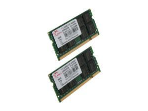 G.SKILL 4GB (2 x 2GB) 200-Pin DDR2 SO-DIMM DDR2 667 (PC2 5300) Dual Channel Kit Laptop Memory Model F2-5300CL5D-4GBSA
