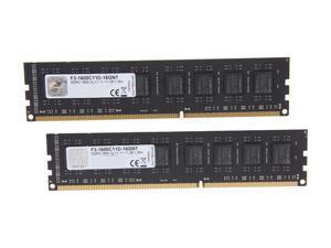 G.SKILL Value 16GB (2 x 8GB) 240-Pin DDR3 SDRAM DDR3 1600 (PC3 12800) Desktop Memory Model F3-1600C11D-16GNT