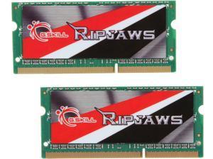 G.SKILL Ripjaws Series 8GB (2 x 4GB) 204-Pin DDR3 SO-DIMM DDR3L 1600 (PC3L 12800) Laptop Memory Model F3-1600C11D-8GRSL