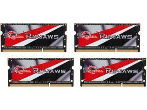 G.SKILL Ripjaws 32GB (4 x 8GB) 204-Pin DDR3 SO-DIMM DDR3L 1600 Laptop Memory Model F3-1600C9Q-32GRSL