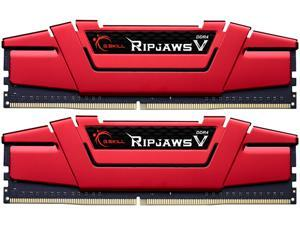 G.SKILL Ripjaws V Series 8GB (2 x 4GB) 288-Pin DDR4 SDRAM DDR4 2400 (PC4 19200) Desktop Memory Model F4-2400C15D-8GVR