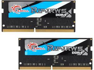 G.SKILL Ripjaws Series 8GB (2 x 4GB) 260-Pin DDR4 SO-DIMM DDR4 2400 (PC4 19200) Laptop Memory Model F4-2400C16D-8GRS