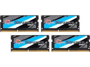 G.SKILL Ripjaws Series 64GB (4 x 16GB) 260-Pin DDR4 SO-DIMM DDR4 2400 (PC4 19200) Laptop Memory Model F4-2400C16Q-64GRS