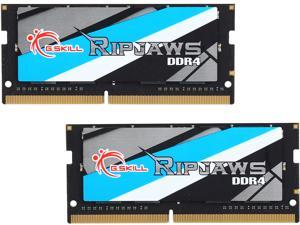 G.SKILL Ripjaws Series 32GB (2 x 16GB) 260-Pin DDR4 SO-DIMM DDR4 2666 (PC4 21300) Laptop Memory Model F4-2666C18D-32GRS