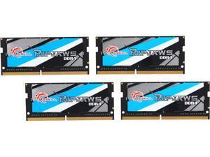 G.SKILL Ripjaws Series 64GB (4 x 16GB) 260-Pin DDR4 SO-DIMM DDR4 2666 (PC4 21300) Laptop Memory Model F4-2666C18Q-64GRS
