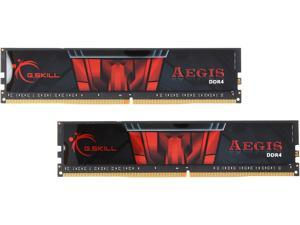 G.SKILL Aegis 8GB (2 x 4GB) 288-Pin DDR4 SDRAM DDR4 2400 (PC4 19200) Desktop Memory Model F4-2400C15D-8GIS